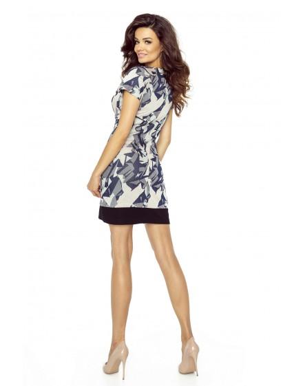 Lucia – sukienka z francuskim cięciem i dołem z koła (koral)