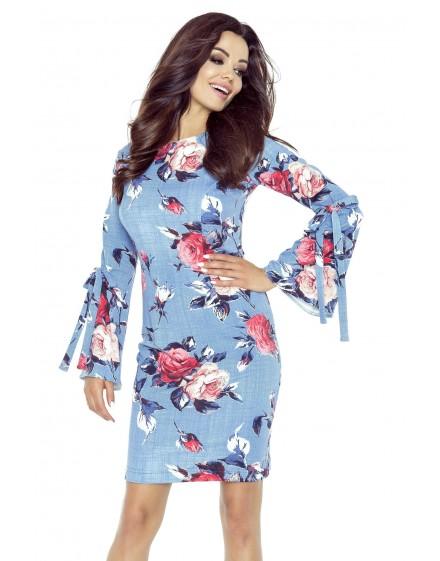 Lucia – sukienka z francuskim cięciem i dołem z koła (jasny beż)