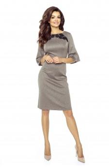 09-01 Monica – sukienka dzienna przysłaniająca niedoskonałości (szary jeans-moro)