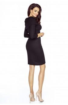 09-08 Monica – sukienka dzienna przysłaniająca niedoskonałości (szary)