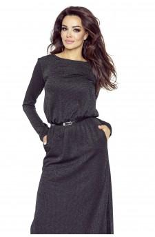09-09 Monica – sukienka dzienna przysłaniająca niedoskonałości (czarny)