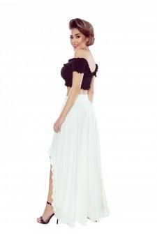 37-04 Sofia – sukienka z wycięciem na ramionach (bordo)