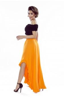 37-03 Sofia – sukienka z wycięciem na ramionach (czarny)