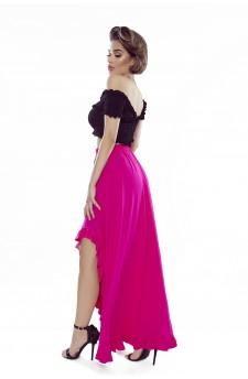 37-07 Sofia – sukienka z wycięciem na ramionach (beż)