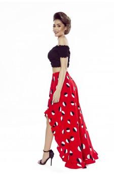 55-05 ESTERA – elegancka sukienka z falującą plisą (słoneczniki)