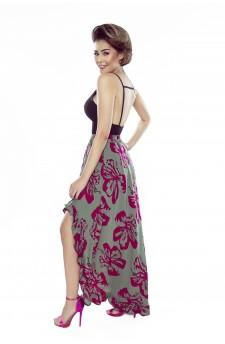 55-07 ESTERA – elegant dress with a wavy crease (sprigs)