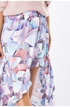 27-08 - Eleonora - dress with neckline on the back (violet print)