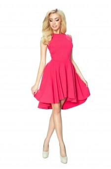 27-12 Eleonora – sukienka z dekoltem eksponującym plecy (Paski Malina)