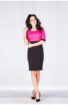 27-20 Eleonora – sukienka z dekoltem eksponującym plecy (szary-czarny 1,7x0,5)