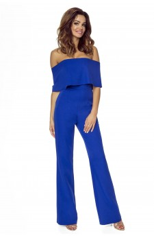 112-03 IVO jumpsuit with bare shoulders (cornflower)