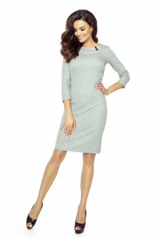 Casual dress with 7/8 sleeves