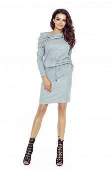 79-02 VIVA uniwersalna i wygodna sukienka (szary średni błysk)