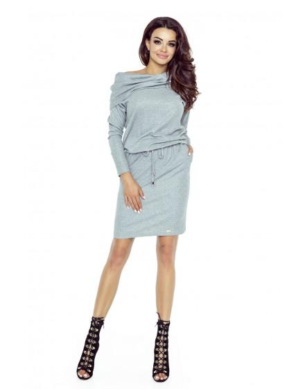 79-02 VIVA universal and comfy dress (medium grey shiny)