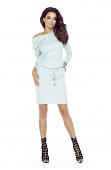 79-01 VIVA universal and comfy dress (light grey shiny)