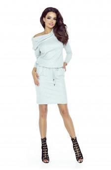 79-01 VIVA uniwersalna i wygodna sukienka (szary jasny błysk)