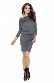 79-03 VIVA universal and comfy dress (dark grey shiny)