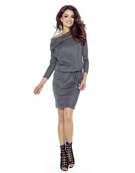 79-03 VIVA uniwersalna i wygodna sukienka (grafit błysk)
