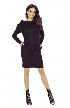 79-04 VIVA universal and comfy dress (black mat)