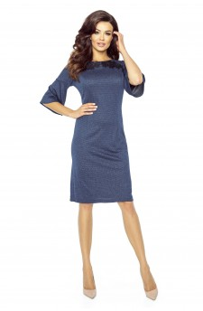 71-07 LISA klasyczna i wygodna sukienka(GRANAT)