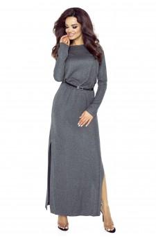 72-03 Tonia sukienka przysłaniająca niedoskonał (grafit błysk)