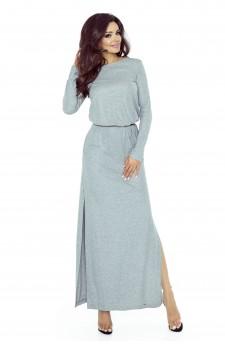 72-02 Tonia sukienka przysłaniająca niedoskonał(SZARY ŚREDNI BŁYSK)