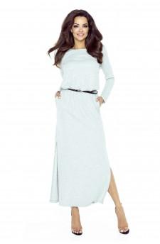 72-01 Tonia sukienka przysłaniająca niedoskonał(SZARY JASNY BŁYSK)