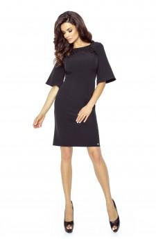 71-02 LISA classic and comfy dress(BLACK)