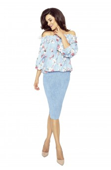 19-05 CROSSY - Spanish blouse (JEANS MIXED DIFFERENCES)