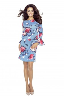 80-05 SAVA universal and comfy dress (red roses)