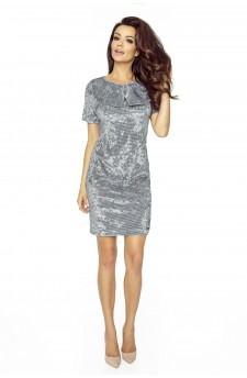 68-01 INES komfortowa sukienka biurowa (WELUR PEPITKA)