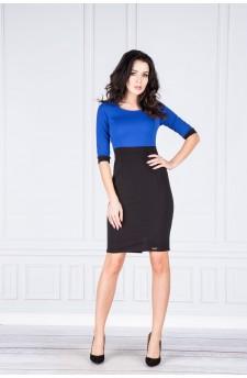 Danusia – elegancka sukienka z kontrastową górą (wzór)