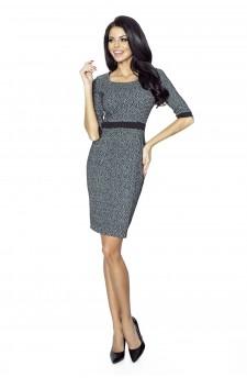 25-02 - DANUSIA - elegant dress with stripe (panther)
