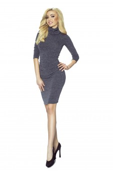 13-03 - Draped dress sweater with golf (navy)