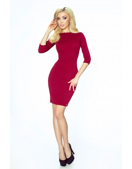 27-04 - Eleonora - dress with neckline on the back (maroon)