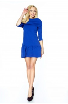 12-01 - FRANCESCA- lovely dress with wide golf and flounce (blue)