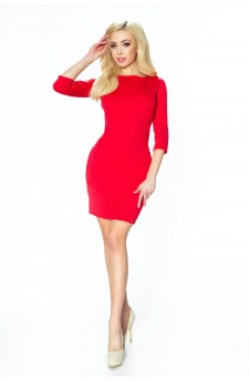 11-01 - TESSO - classic, daily tube dress (red)