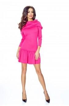 12-02 - FRANCESCA- lovely dress with wide golf and flounce (pink)