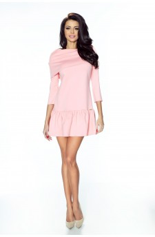 12-04 - FRANCESCA- lovely dress with wide golf and flounce (pastel pink)