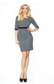 25-05 - DANUSIA - elegant dress with stripe (rombs)