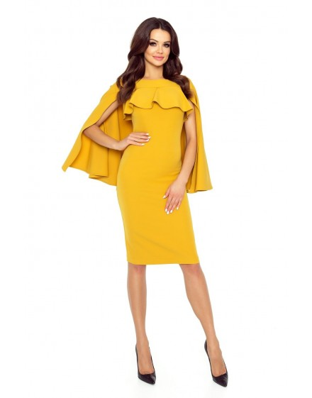 94-04 ESME dress with cape (yellow)