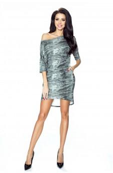 09-06 Monica – sukienka dzienna przysłaniająca niedoskonałości (szary z przetarciami)