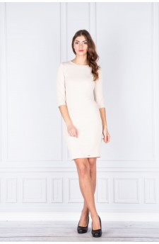27-03 - Eleonora - dress with neckline on the back (beige light)