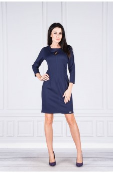 15-05 - TERA - dress with a crack in the neckline (navy)