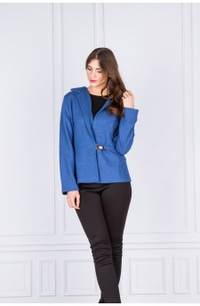 26-03 - Short jacket with asymmetrical buckle (blue)