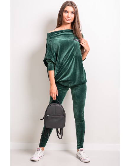 Sweatshirt with a pocket, silver zippers