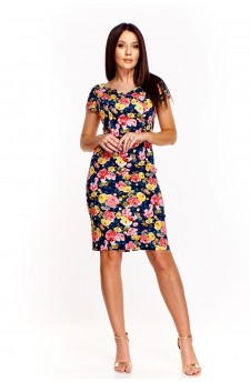 Sukienka w kolorowe kwiatki
