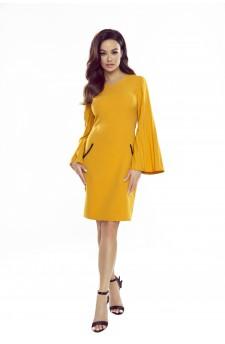 Sukienka z plisowanymi rękawami