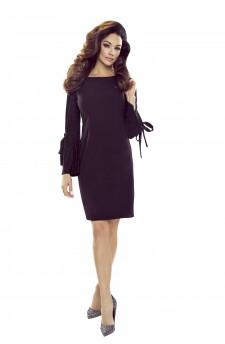 Sukienka z brokatowymi rękawami