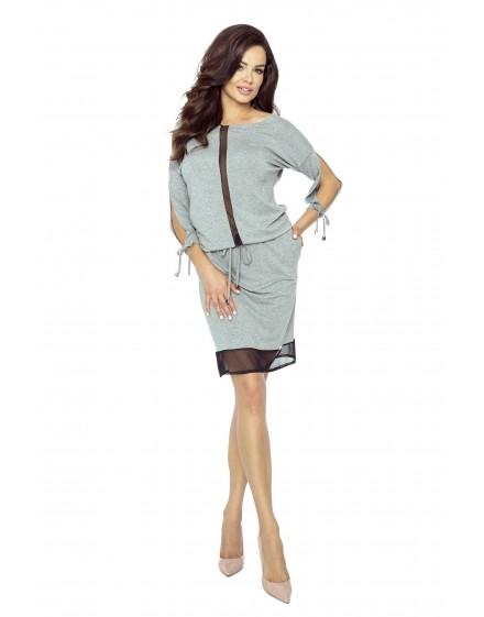 82-01 VARIA uniwersalna i wygodna sukienka (szary średni)