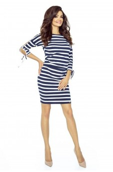 84-05 Venus comfy everyday dress (STRIPES NAVY 2,5X1,5)